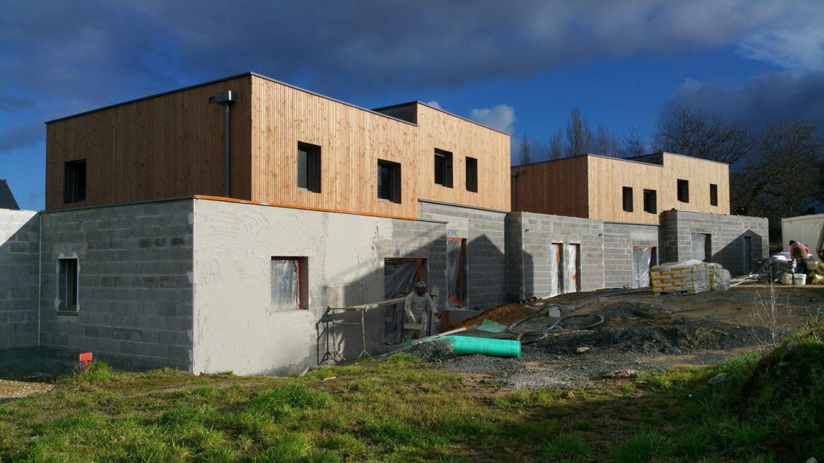 4 des 13 maisons en chantier
