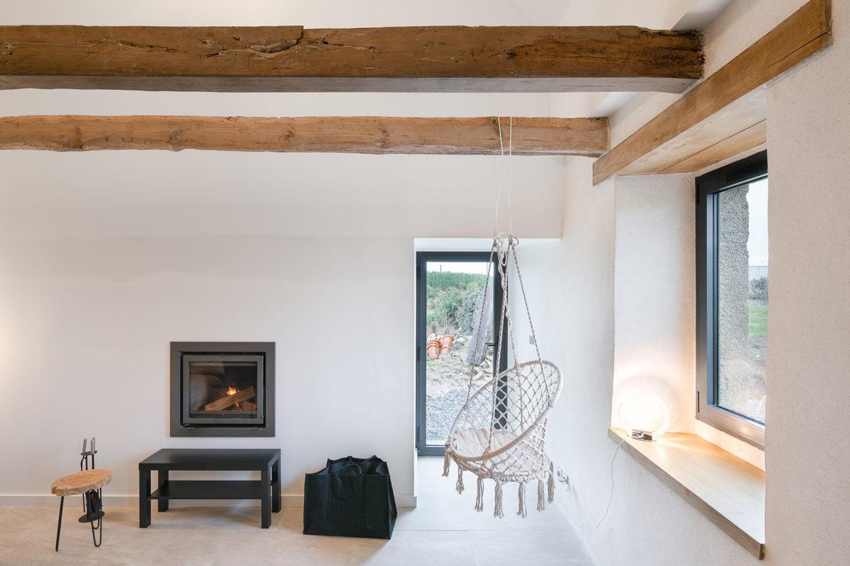 Design et architecture d'intérieur bois et blanc