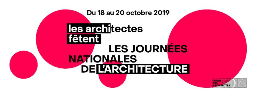 Bannière Journées Nationales de l'Architecture 2019