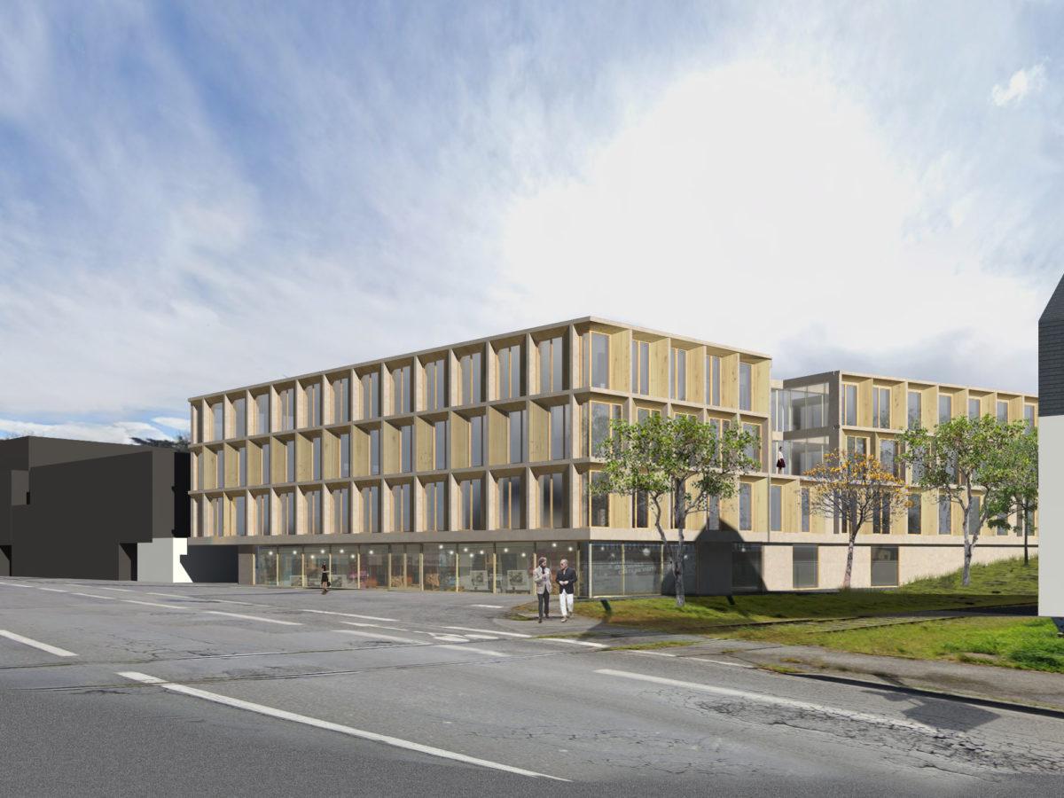 Angle Nord Ouest immeuble de bureaux Saint Brieuc