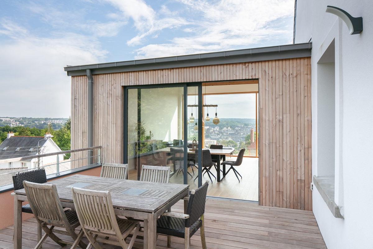 Terrasse bois maison Lannion - B. Houssais Architecture